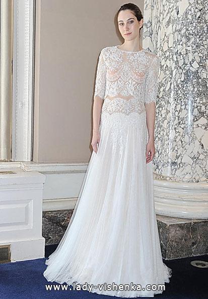 Весільні сукні з мереживними рукавами фото - Christos Costarellos