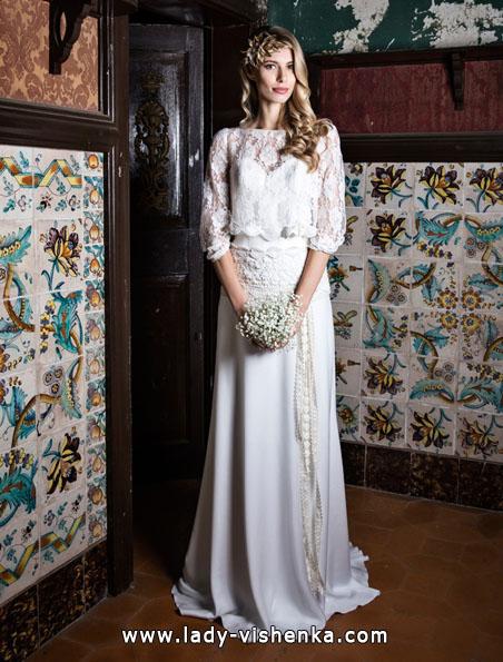 Весільні сукні з мереживними рукавами - Jordi Dalmau
