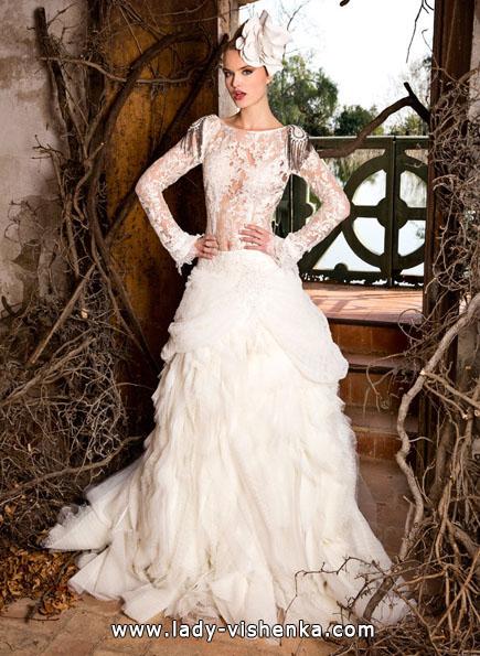 Весільні сукні з мереживними рукавами 2016 - Jordi Dalmau