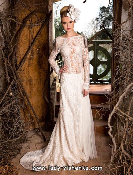 Весільні сукні з мереживними рукавами фото - Jordi Dalmau