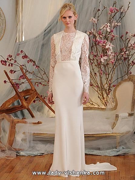 Весільні сукні з мереживними рукавами - Elizabeth Fillmore