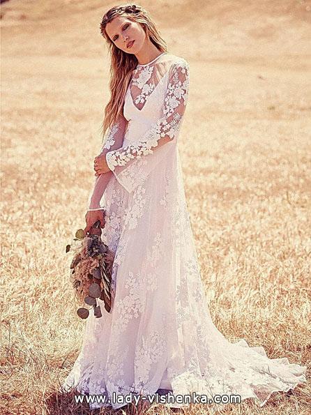 Весільні сукні з мереживними рукавами - Free People