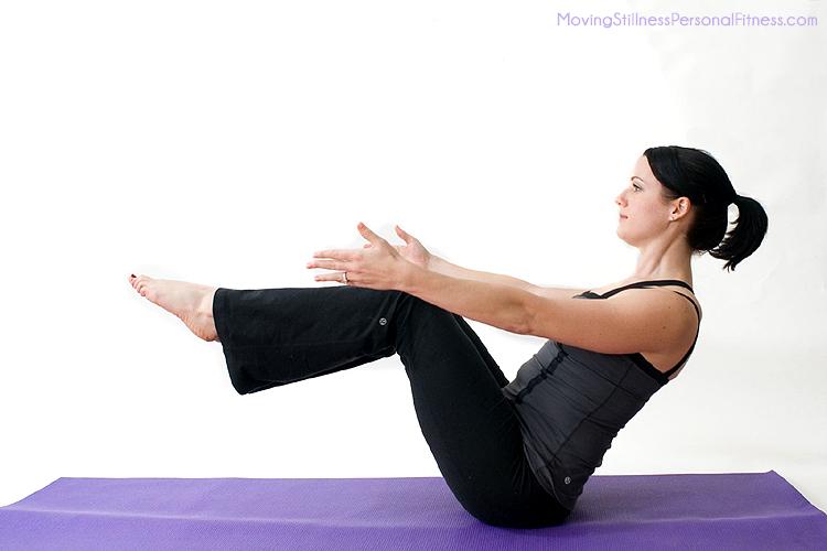 Пози йоги - Човен (фото і опис)