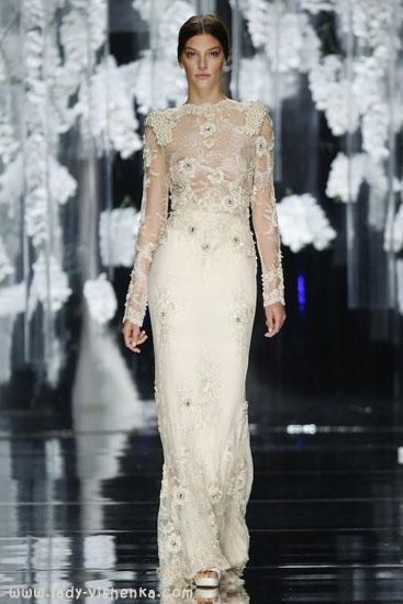 Весільні сукні з рукавами мереживо YolanCris