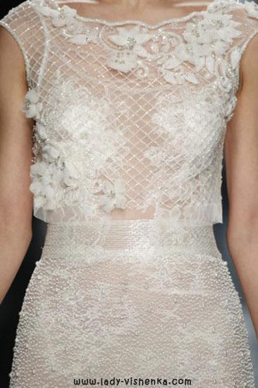 Мереживна відкрите весільну сукню YolanCris