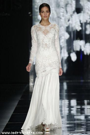 Весільні сукні з рукавами фото YolanCris