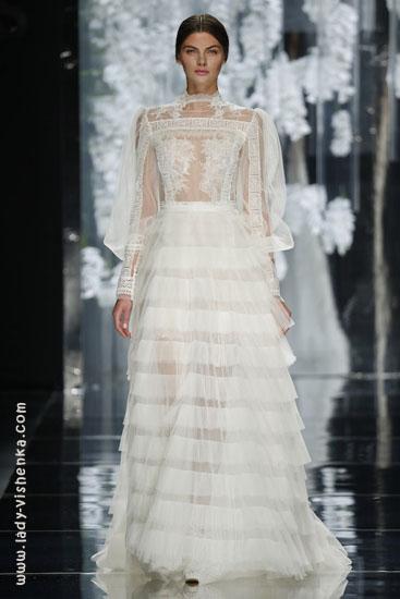 Весільне плаття з рукавами з мережива YolanCris