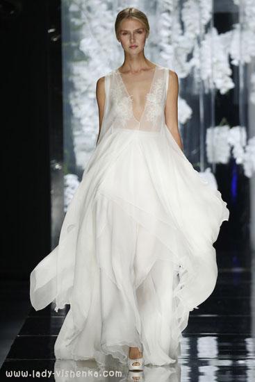 Мереживне весільне плаття з рукавами 2016 YolanCris