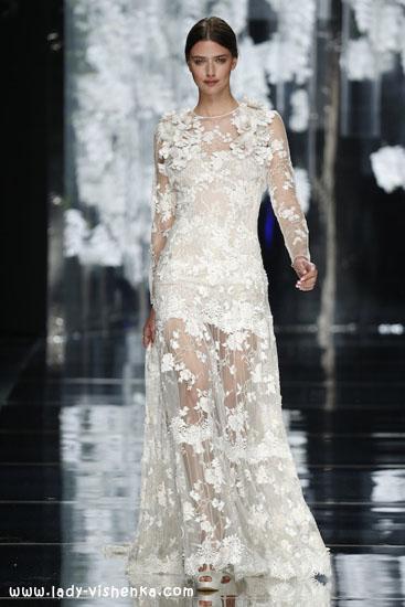 Весільне плаття з рукавами з мережива 2016 YolanCris